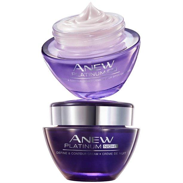 Комплект от дневен + нощен крем Anew Platinum супер цена